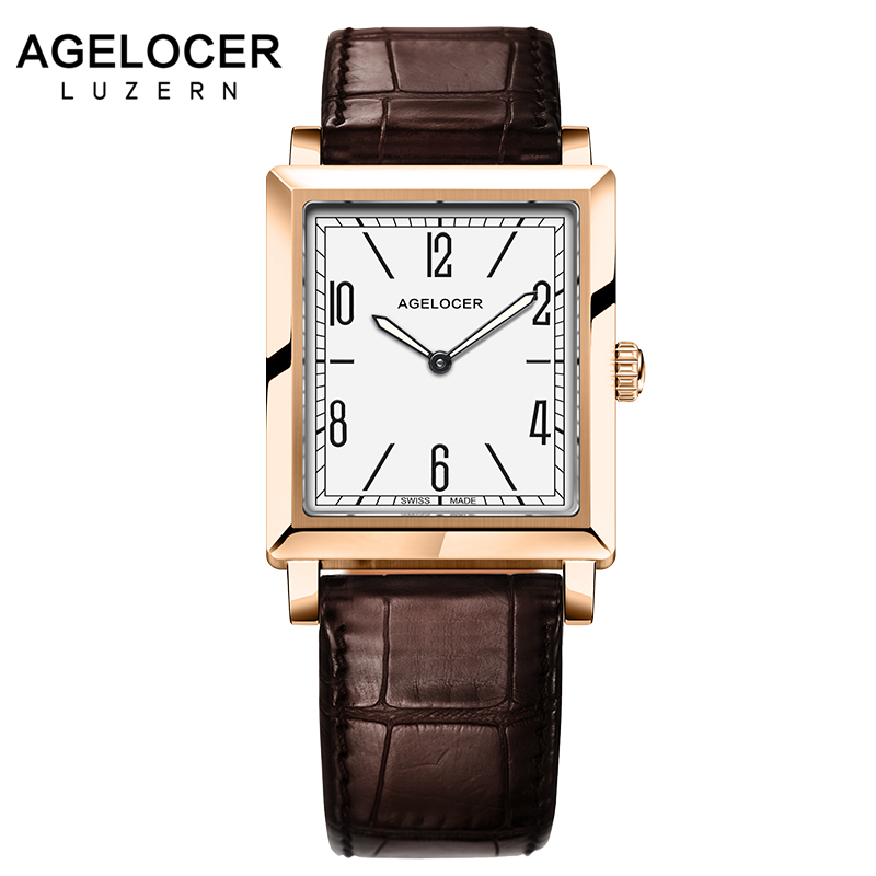 AGELOCER Luxury Brand Ladies Watch Fashion Leather Wrist Quartz Girl Watch for Women Dress Watches Clock Relogio Feminino relogio feminino sinobi watches women fashion leather strap japan quartz wrist watch for women ladies luxury brand wristwatch