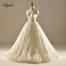 Glamorous Satin Draped A-Line Wedding Dress Beading Appliques Lace Court Train Wedding Gown Bridal Dress