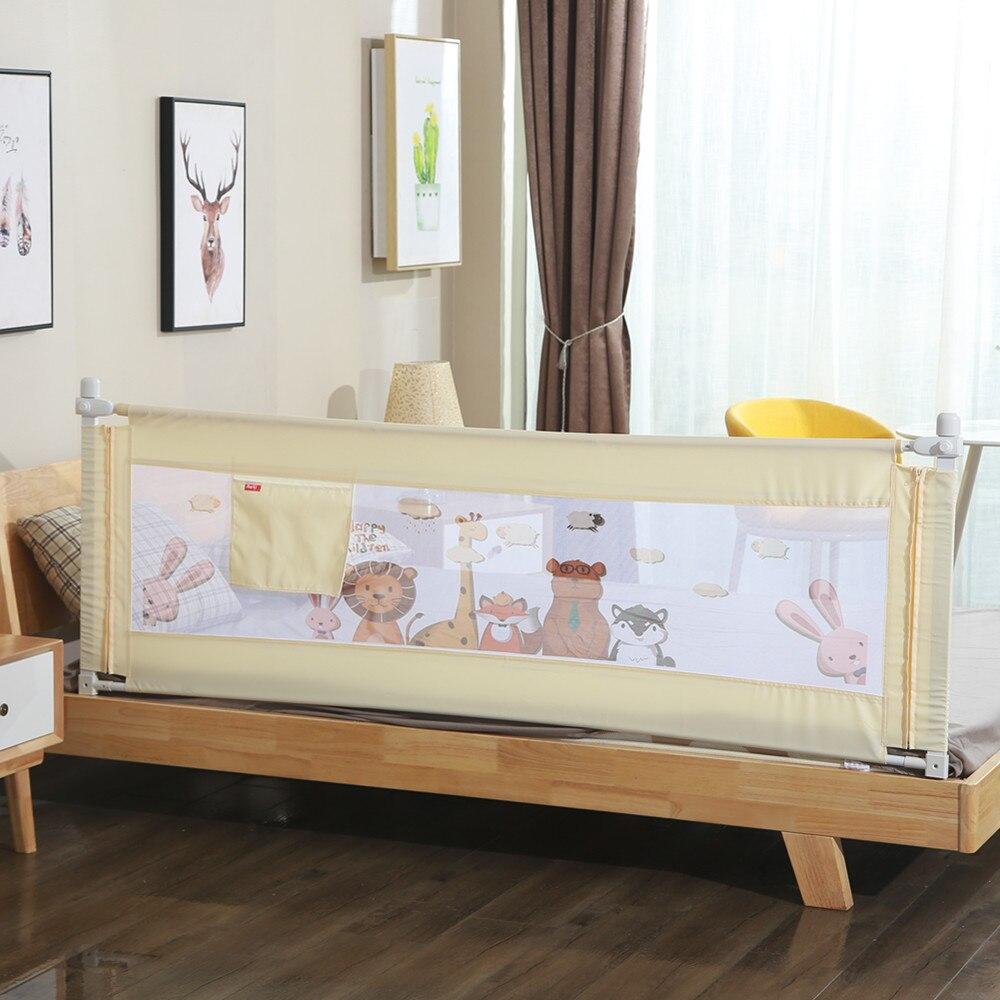 1 Stück 150 ~ 200 Cm Cartoon Neugeborenen Baby Sicherheit Zaun Schutz Einstellbare Bett Schiene Infant Bett Tasche Laufstall Kinder Bett Leitplanke Krippe Schiene
