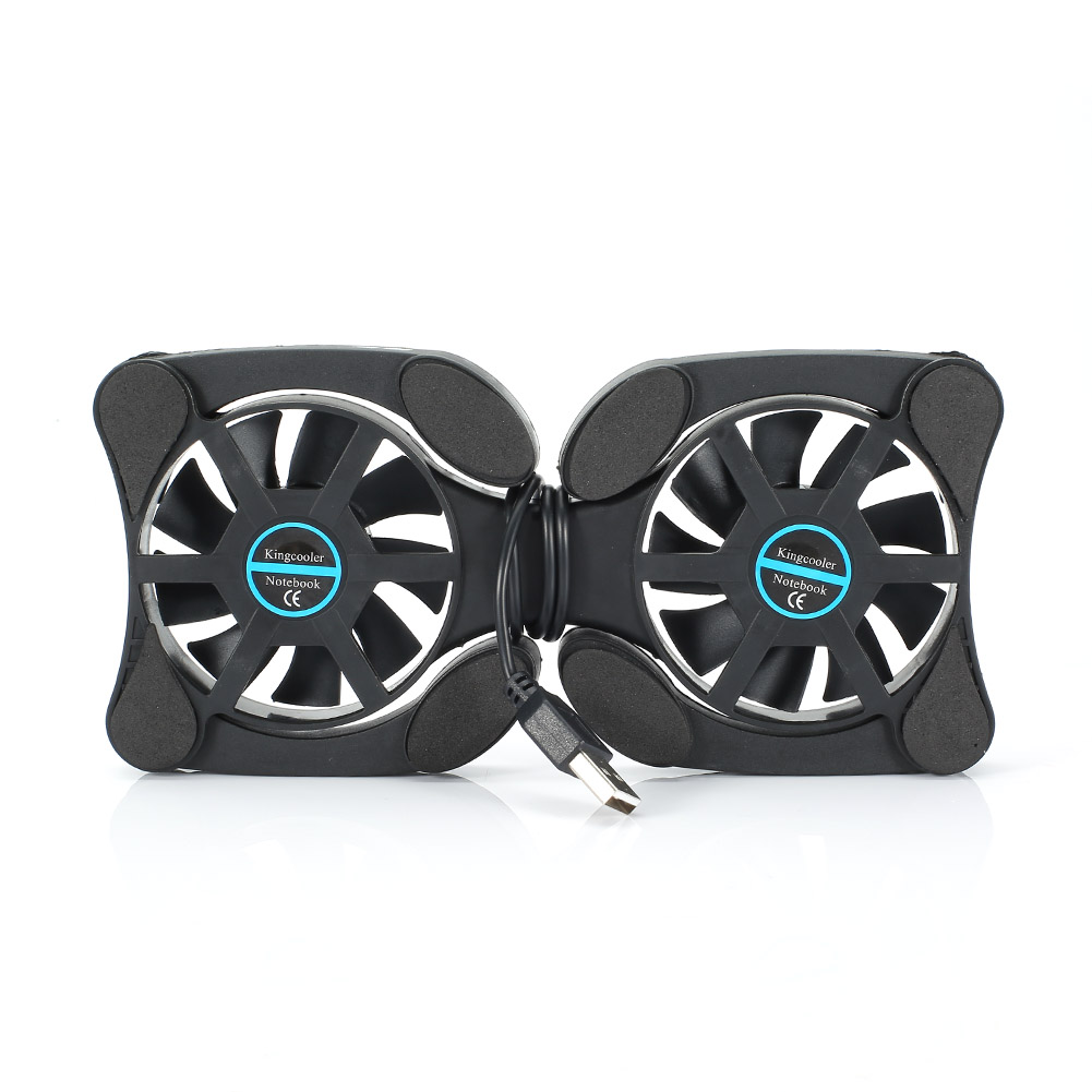 Notebook Cooler Laptop Foldable USB Double Silent Cooling Fan Pad Stand Computer