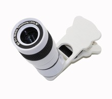 Cell Telephone Lens Common 8X Zoom Telescope Digital camera Telephoto Lenses for iPhone four 4S 5 5C 5S 6 Plus Samsung Galaxy S3 S5