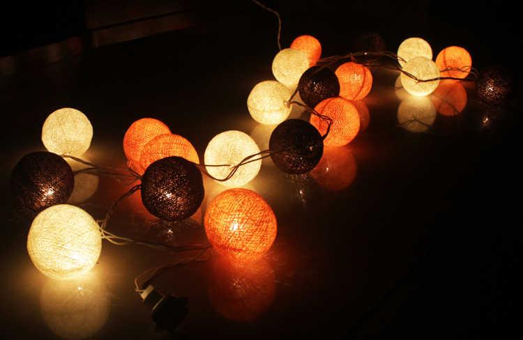 Rattan Bola Tali Peri Lights untuk Dekorasi Pernikahan Natal Pesta 2 M LED 20 Pcs