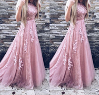 319113d732815 Fashion Blush Pink Prom Dress 2019 Crystal Beaded Top Tulle Elegant Long  Gown Show Waist Sweep Train Plus Size Cheap