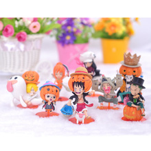 8pcs/set 9CM Japanese Anime One Piece Action Figures One Piece Luffy Pirates regimen Garage Kits With Gift Box For Children