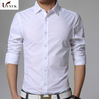 2017 Spring Summer Brand Clothing Male Long Sleeve Men Slim Shirt Casual Occupation Dress Camisa Masculina