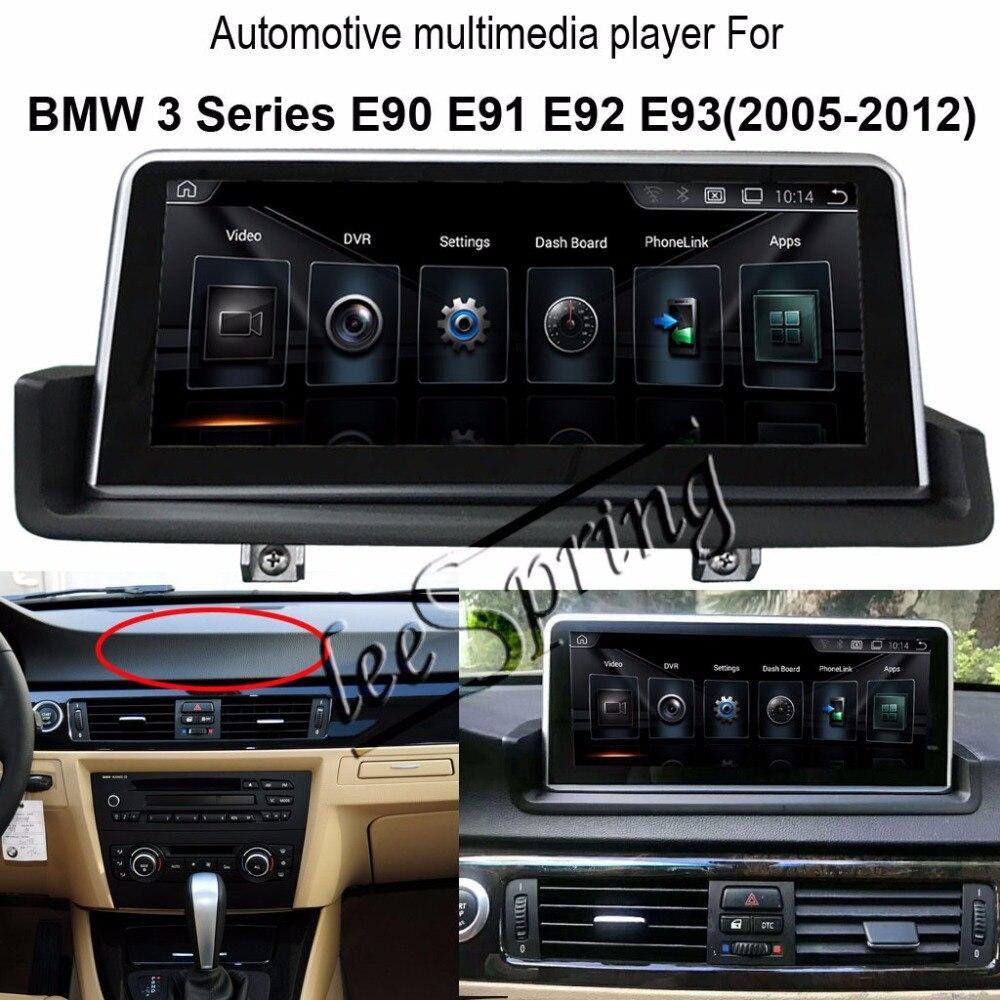 10,25 Android 4,4 Автомобильный мультимедийный видеоплеер для BMW 3 серии E90 E91 E92 E93 (2005 2012) gps левый/правый дополнительно