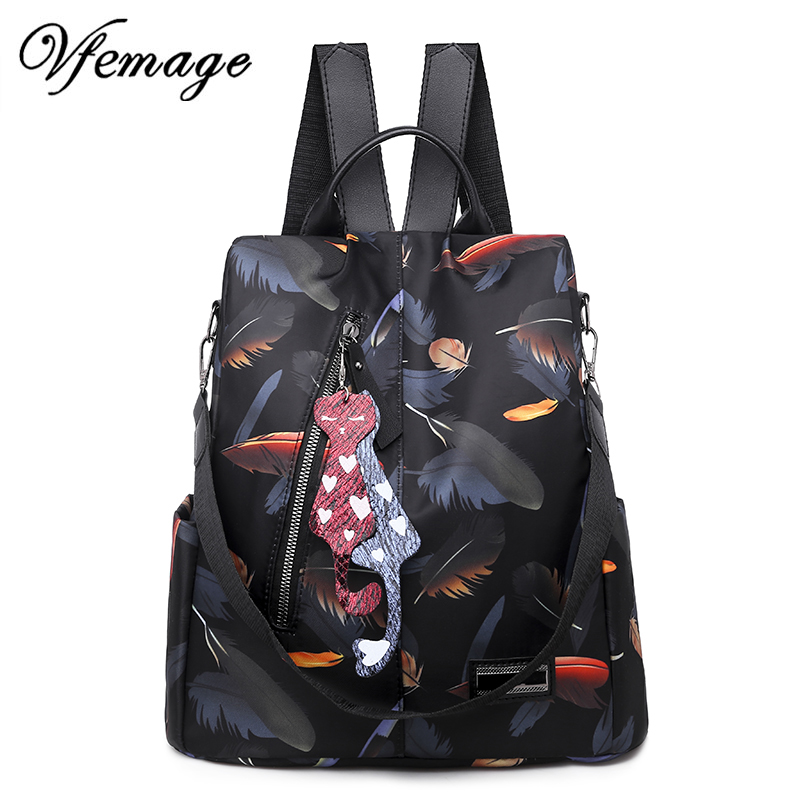 Vfemage 2019 Fashion Backpack Women Bags Anti Theft Backpack Waterproof Oxford Female Small Bagpack Schoolbags For Girls Mochila