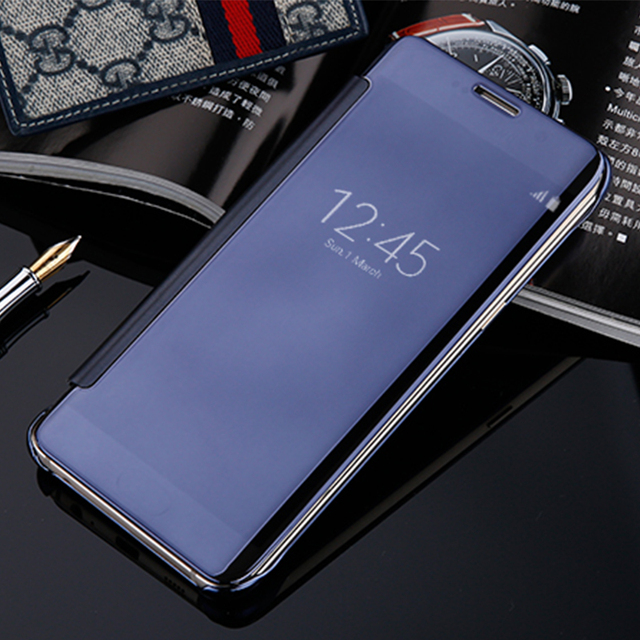 Aliexpress Com Buy Mirror Smart View Flip Case For