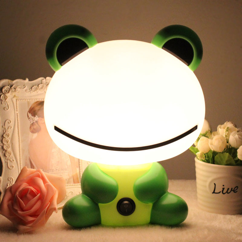 Creative cartoon E14 LED night lights table lamp children baby bedroom bedside desk lamp student reading light indoor lighting novel art solid geometry bedroom bedside table lamps led table lamp 220v desk lights decor eye protection reading light white
