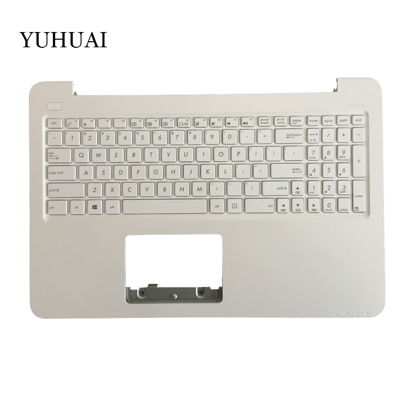 New English Laptop Keyboard for ASUS x556 X556U X556UA A556 F556 US keyboard with Palmrest Upper 13NB0BG5AP0201 the new english for sony vpcsb18ga vpcsb18gg vpcsb18gh keyboard black silver laptop keyboard