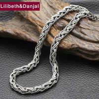 Женское ожерелье, из стерлингового серебра 925 пробы, ширина 7 мм