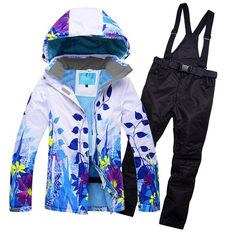10 K Leader ventes vestes d'hiver femmes ski costume ensemble vestes et pantalons extérieur unique ski ensemble coupe-vent Therma ski snowboardl - 4