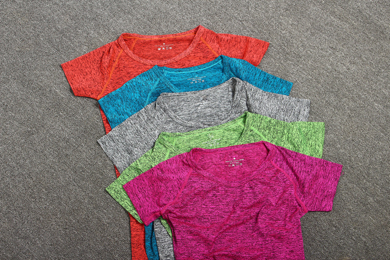 Female Short-sleeved Summer Outdoor Yoga Set
