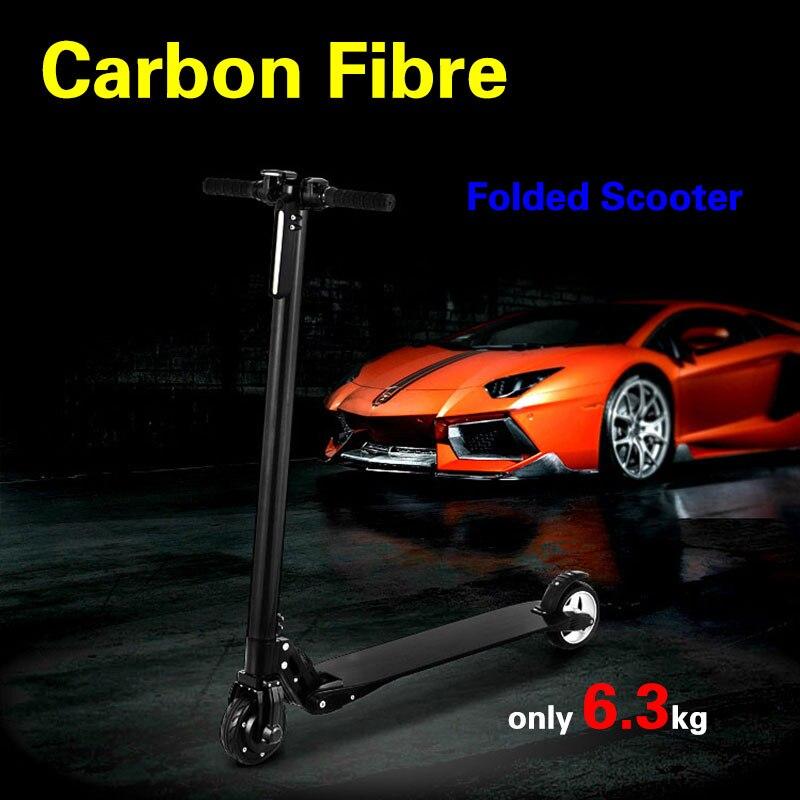 Vélo électrique pliable de la batterie 8.8ah/10.4ah de planche à roulettes de Fiber de carbone de scooter électrique avec la béquille pour l'adulte d'enfants
