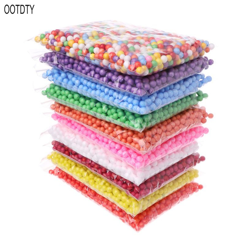 7-9mm Snow Mud Particles Accessories Foam Beads Slime Balls Supplies Floam Filler For Foam Slime Fluffy Clay Mud