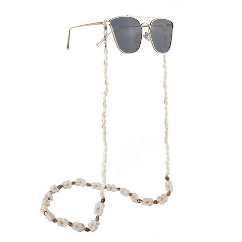 F.J4Z New Hot Seashell Glasses Chain Summer Beach Nature Shell Sunglasses Straps Cowrie Eyewear Holder Sun Glasses Accessories Karachi