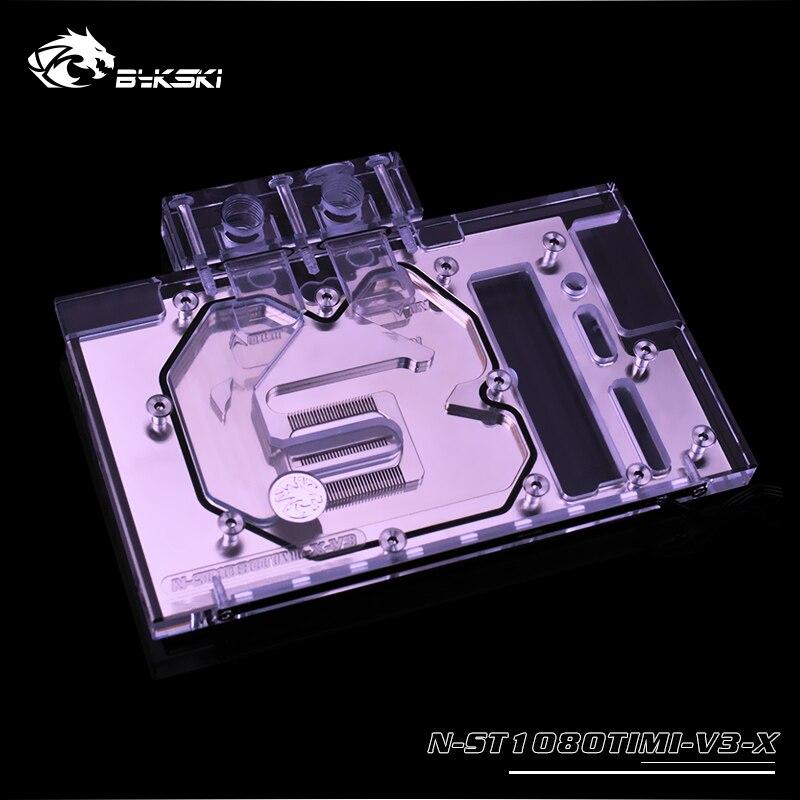 Bykski GPU водяной блок для ZOTAC Geforce GTX 1080Ti MINI, 4 серии, 12v 4pin, 5v 3pin световой коллектор, N ST1080TIMI/V2/V3/V4 X