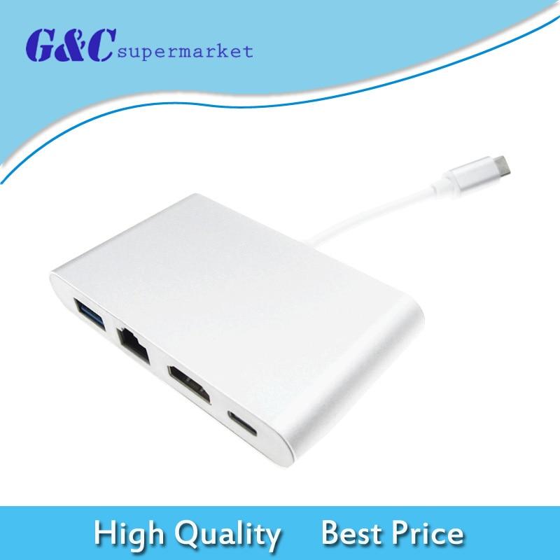 USB C to HDMI 4K+Gigabit Ethernet (RJ45 Port)+USB 3.1 Type C Adapter ConverterUSB C to HDMI 4K+Gigabit Ethernet (RJ45 Port)+USB 3.1 Type C Adapter Converter