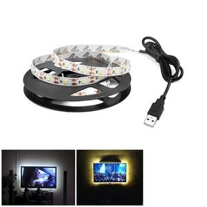 Image 2 - モーションセンサーledライトストリップバッテリ駆動ベッドの下にライト子供ルーム夜誘導ストリップテープ家の装飾ライト