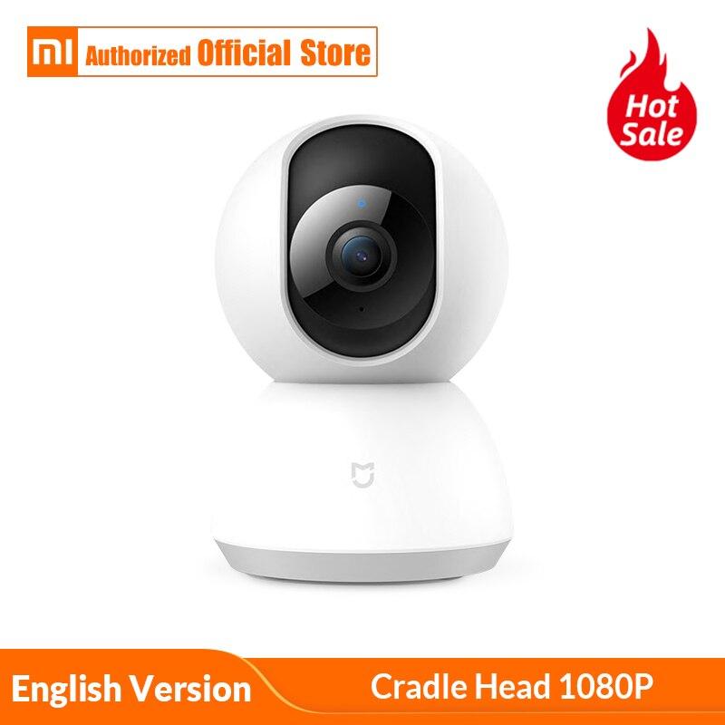 Inglês Versão Xiaomi Mijia Câmera Inteligente Cradle Cabeça Camcorder 1080P 360 Ângulo de Visão da Webcam IP Cam WI-FI Sem Fio App controle