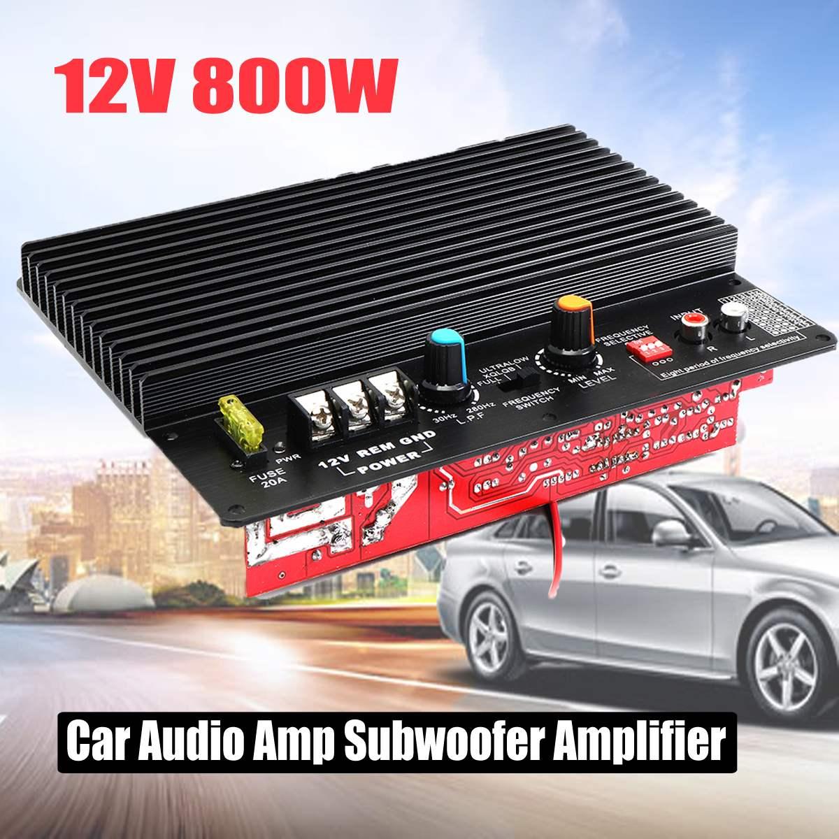 CLAITE YD-800W HiFi Subwoofer Amplifier 220V 24V 12V Home Car Speaker  Amplifier Audio Amp 200x155x50mm