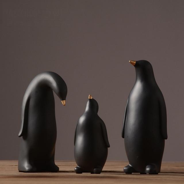 Retro decorazione Pinguino famiglia soggiorno decorazione della ...