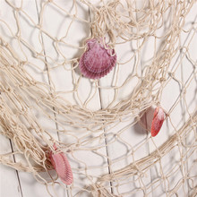 Mediterranean style Home Decoration Nautical Decorative 1M x 2M Fishing Net Sea Beach Shell Party Door Wall Ornaments Decoration