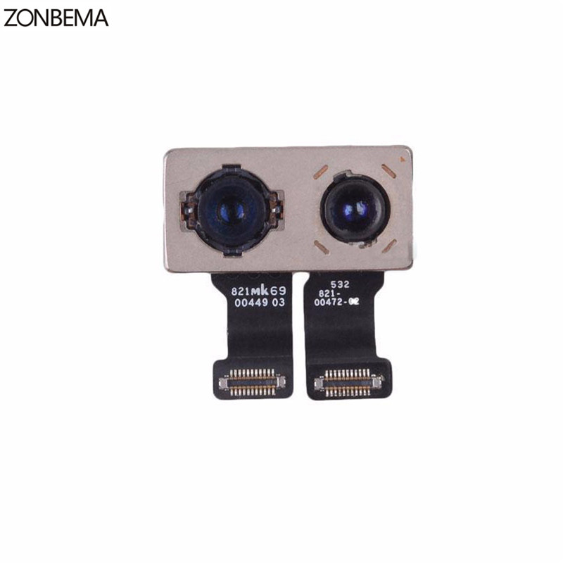 ZONBEMA 100 Original TEST WORKING Back Rear Camera With Flash Module Sensor Flex Cable For iPhone