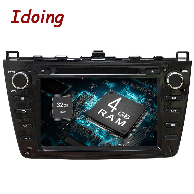 Idoing 2Din 4G+32G Android8.0 Car DVD Multimedia Video Player For Mazda 6 /Ruiyi /Ultra GPS Navigation 8 Core Stereo Radio 1080P цена