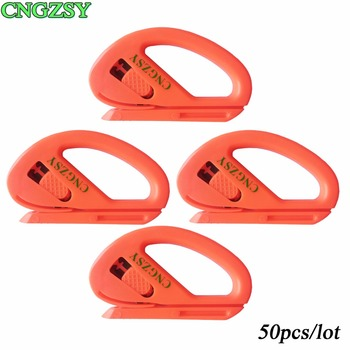 50pcs Car Vinyl Film Mini Portable Utility Knife Paper Cutter Poster Sticker Cutting Office Stationery Safety Tools CNGZSY 50E11