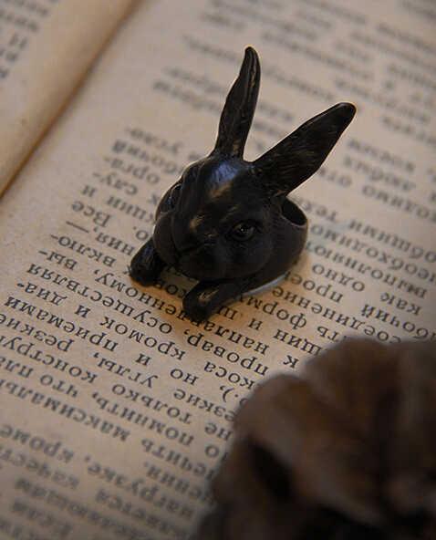 Mignon rétro petit lapin anneau bébé Pet anneau chérie belle Animal lapin anneau fille cadeau bijoux pour enfant et filles