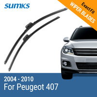 Free Shipping Framless Wiper Blade For Peugeot 407 Soft Rubber 28 28 Windshield Wiper Blade 2pcs