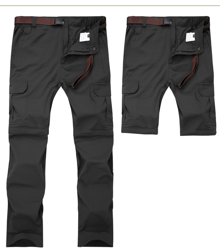 Calças cargo modelo militar masculinas, secagem rápida,