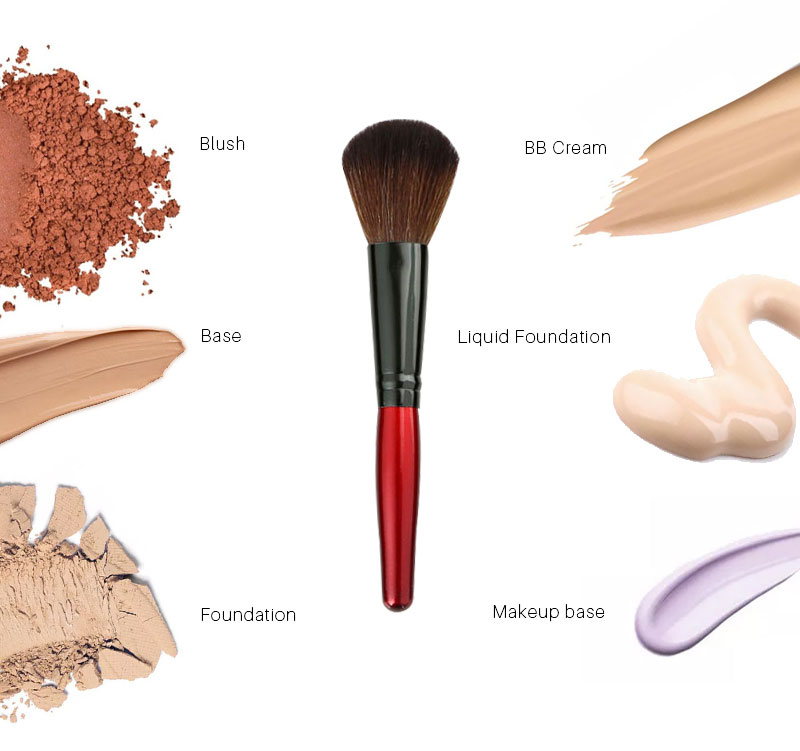 MECOLOR Wooden Handle Makeup Brushes set tools For Face Powder Blusher Foundation eye cosmetics brush Beauty kits 10