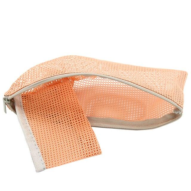 Diniwell Travel Nylon Mesh Zipper Storage Bag Toiletries Cosmetic Makeup Case Purse Pouch