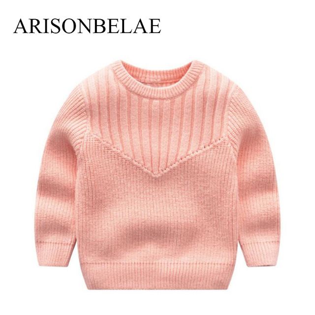 9e0b7f5bae5c 2018 Kids Sweaters Fashion Solid Color Pink Red Girl Vertical ...