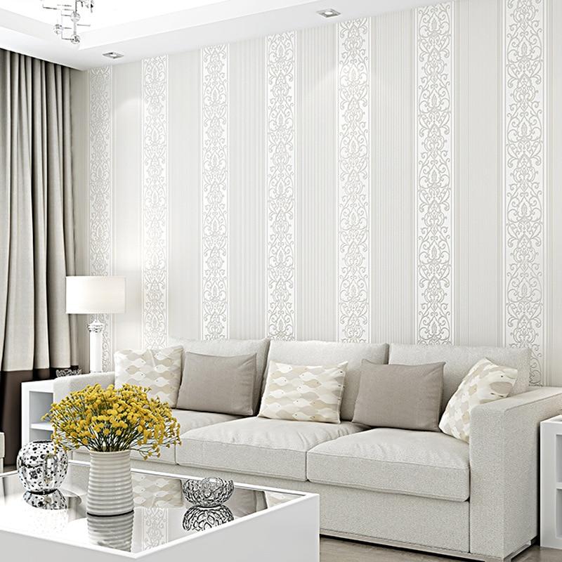 10m 0 53m Non woven wallpaper modern minimalist pure pigmented vertical stripes bedroom living room hotel decoration wallpaper in Wallpapers from Home Improvement