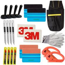 Snap-off Knife Vinyl Safety Cutter Magnet Holder Tools Bag gloves Suede Felt Edge Squeegee Scraper Kit Vehicle Car Wrapping K27