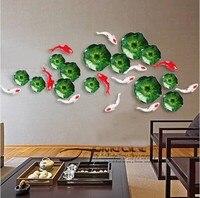 Фоновая стенка креативное украшение для дома Гостиная наклейки на стену подвесной для рыб лист лотоса стены