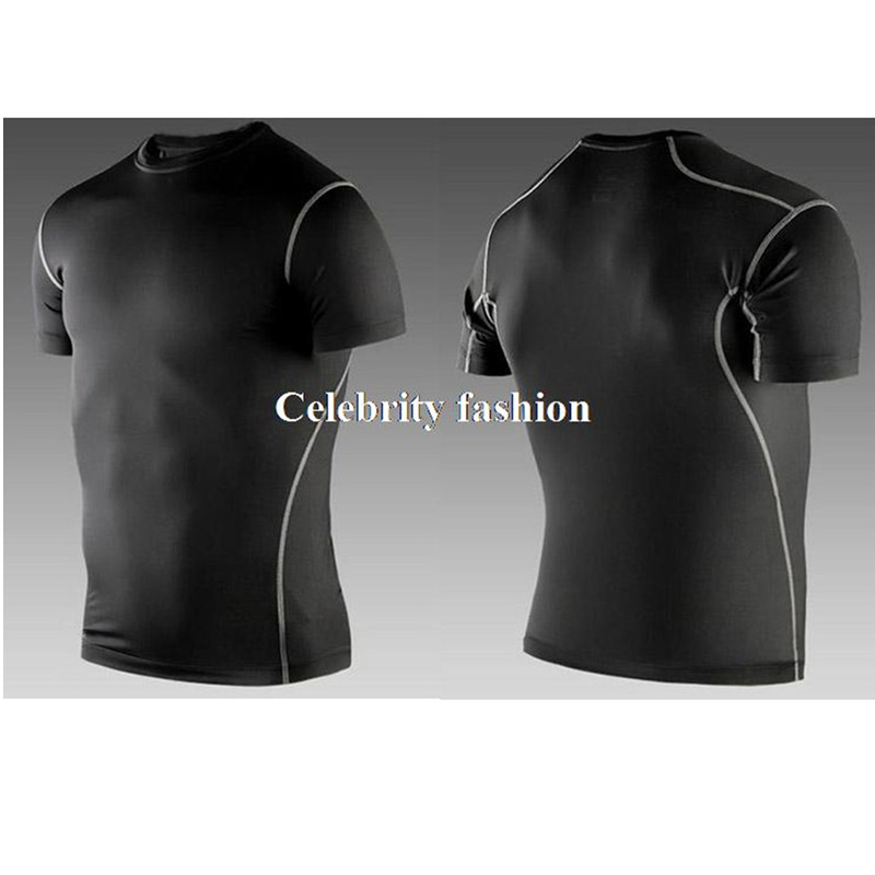 Mens Compression Body Armour Base Layer Tight Tank Tops Skins T-Shirt Gym Vest