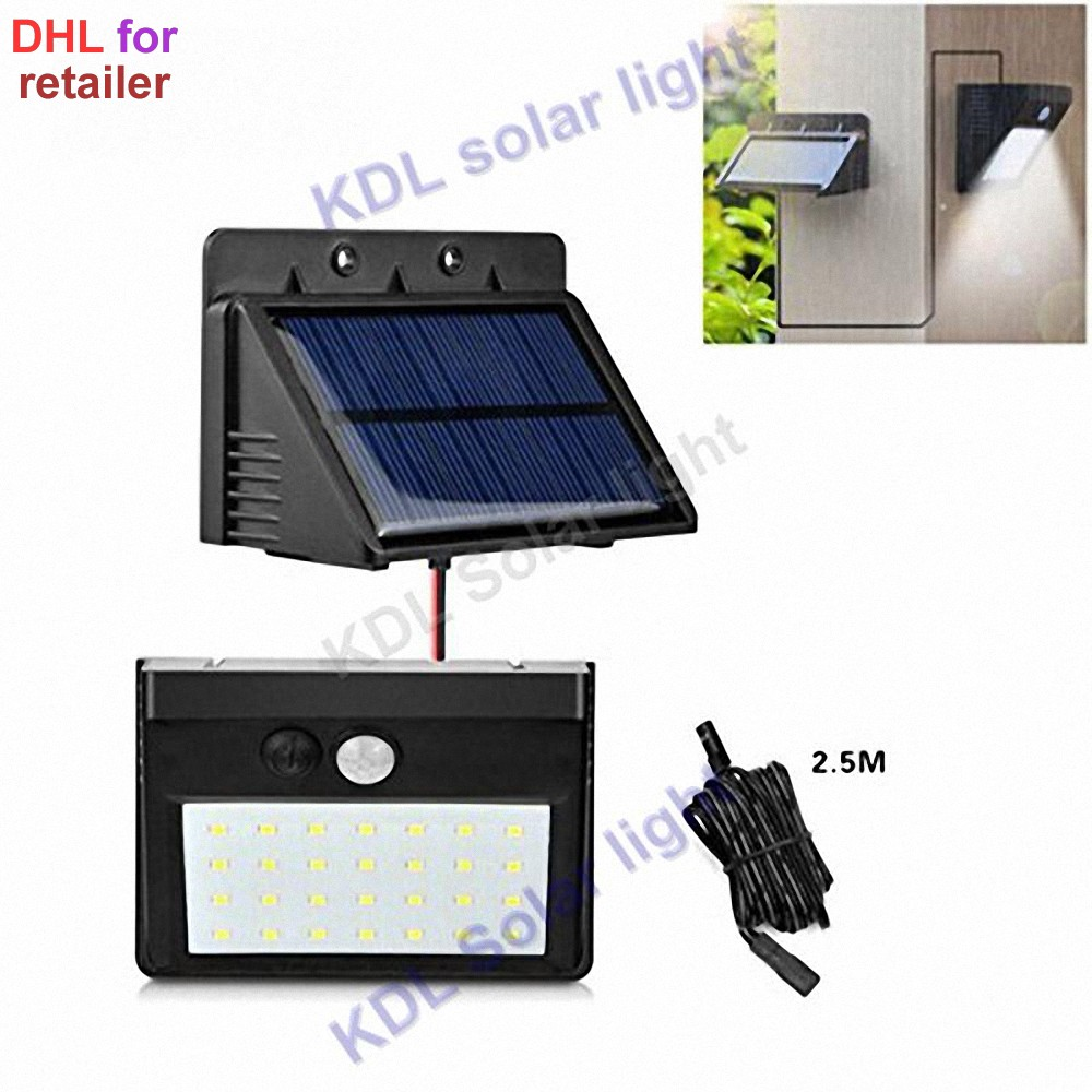 30 Leds Solar Powered Light Split Mount PIR Motion Sensor Led Lamp Waterproof For Indoor Outdoor Garden Patio Step Stair Garage