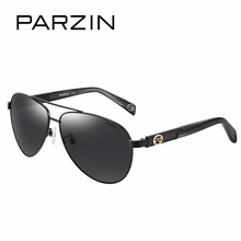 PARZIN Quality Metal Pilot Sunglasses Men Classic Cool Aviator Sunglasses Men 2017 Summer Polarized Glasses For Driver 8032
