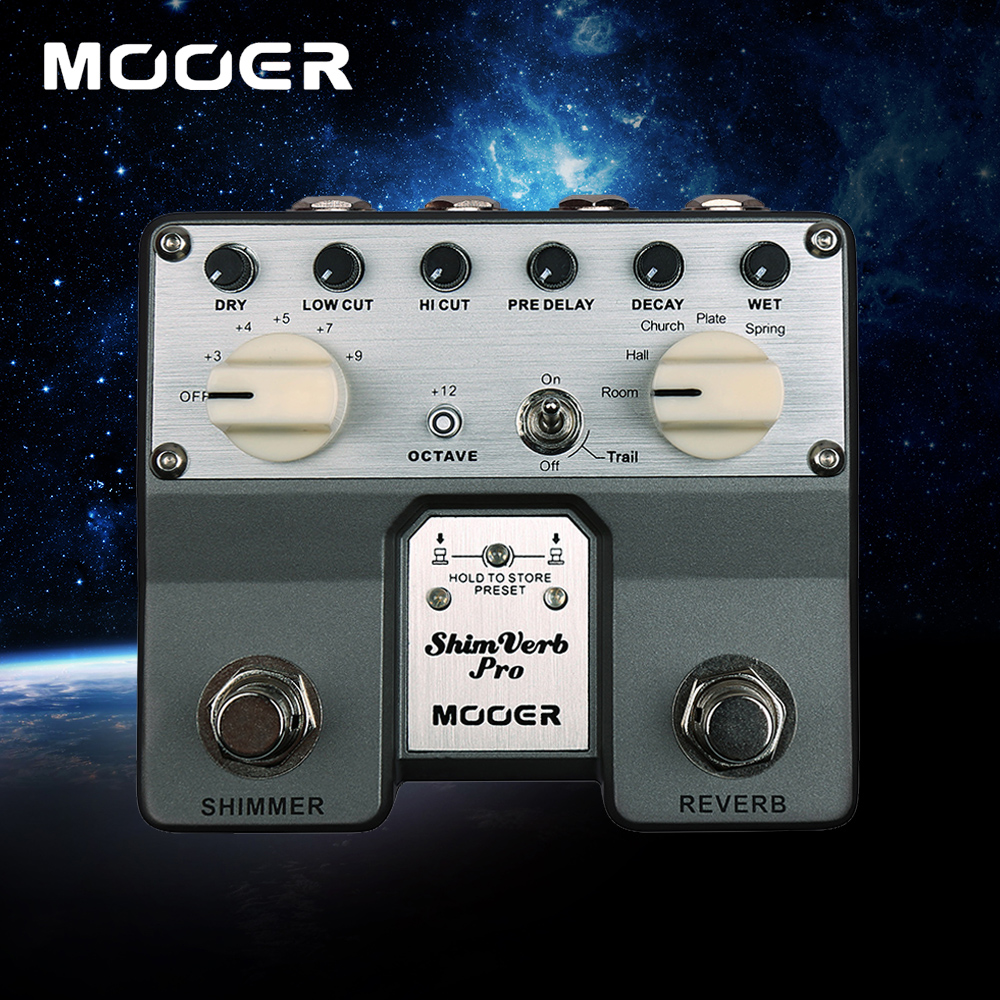 Mooer High Performance Floating-point DSP Chip ShimVerb Pro Digital Reverb Guitar Effect Pedal With 5 Reverberation Modes