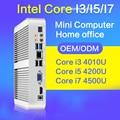 4010u i3 xcy mini pc 4500u i5 4200u i7 8 gb de ram 128 GB SSD + WIFI Mini Desktop Do Computador sem ventilador Thin Client 1920*1080 HDMI VGA
