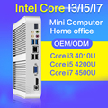 XCY Mini PC I7 4500U I5 4200U I3 4010U 8 ГБ ОПЕРАТИВНОЙ ПАМЯТИ 128 ГБ SSD + WIFI Мини Настольный Компьютер без вентилятора Тонкий Клиент 1920*1080 HDMI VGA