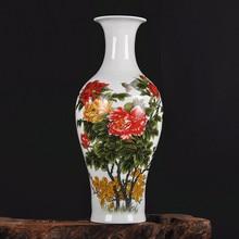 Jingdezhen ceramic vase ornaments famille rose vase Home Furnishing living room decor accessories