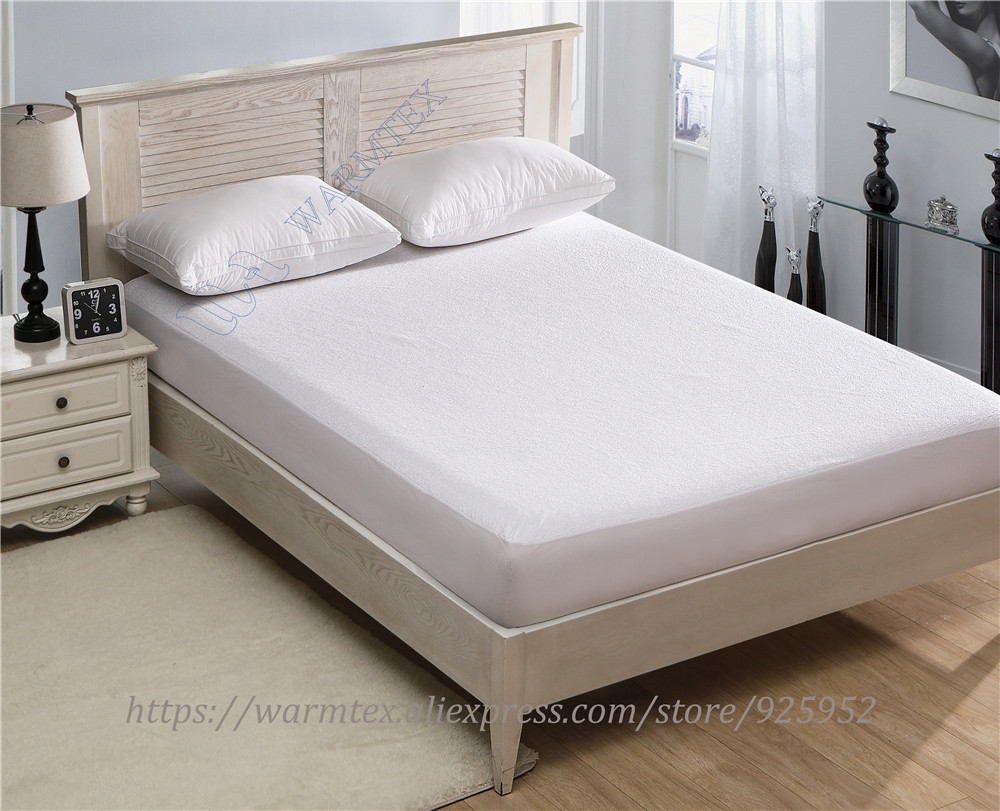 190x120cm luxuryTerry Cloth Mattress Cover 100% Waterproof of TPU Mattress Protector various skirt size A