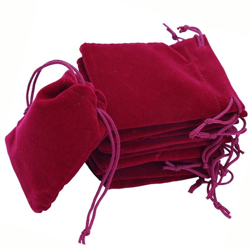 Takı ve Aksesuarları'ten Takı Ambalajlama ve Sergileme'de Takı çantaları 6x7 cm Yumuşak Kadife İpli hediye çantası Takı Ambalaj Ekran Küçük Kese Noel/Düğün 500 adet/grup'da  Grup 1