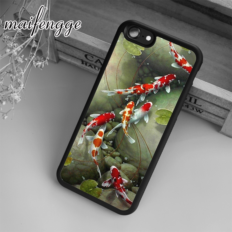 Dutiful Maifengge Cute Animal Carps Koi Case For Iphone 6 6s 7 8 Plus X 5 5s Se Case Cover For Samsung S5 S6 S7 Edge S8 Plus Shell Modern Design Cellphones & Telecommunications Phone Bags & Cases