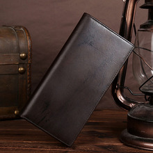 YIANG Genuine Leather Cowhide Men High Quality Clutch Money Bag Vintage Long Purse Coin Pocket Case Card Holder Bifold Wallet